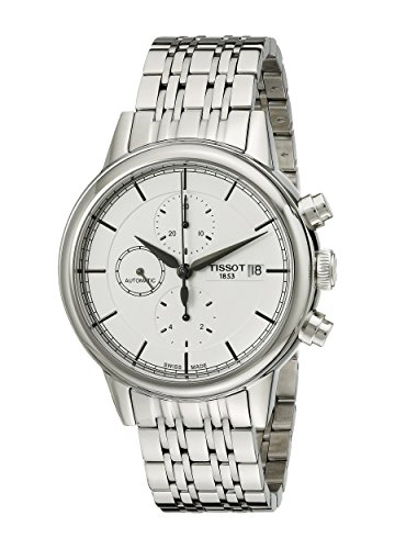 Tissot Men's T0854271101100 Carson Analog Display Swiss Automatic Silver Watch