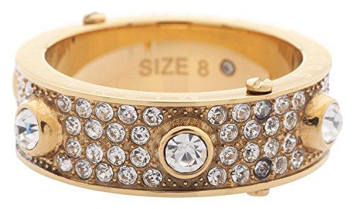 Michael Kors MKJ3273710 - Anillo para mujer, acero inoxidable, dorado, talla 54 (17,2)