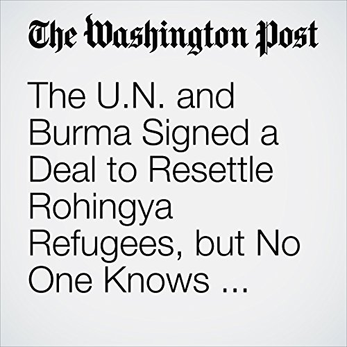 The U.N. and Burma Signed a Deal to Resettle Rohingya Refugees, but No One Knows What's in It copertina