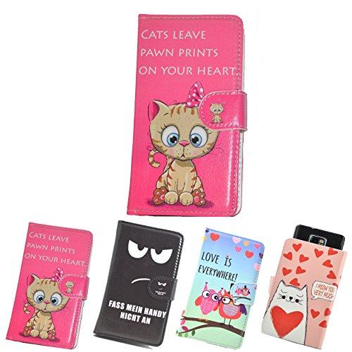 ikracase Slide Motiv Hülle für Hisense Sero 5 Smartphone Handytasche Handyhülle Schutzhülle Tasche Case Cover Etui Design 1 - Katze