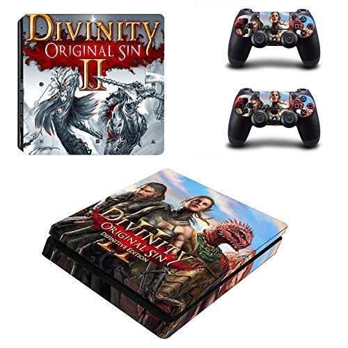 TSWEET Divinity: Original Sin 2 Ps4 Slim Sticker Playstation 4 Skin Sticker Decal For Playstation 4 Ps4 Slim Console & Controller Skin