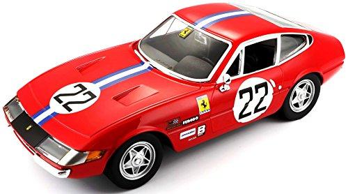 Burago-18-26303 Coche 365GTB4 Competiciones 1 A Serie, Color Rojo, Ferrari 1A (18-26303)