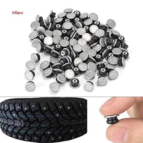 Tornillos de perno de llanta, clavos de llanta, perno de llanta de coche, tornillo de llanta, 12mm / 0.5in, 100 Uds, Modificación para coche, motocicleta, ATV UTV(JX12-8-2)