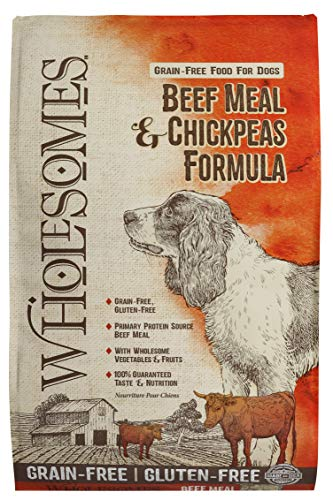 Wholesomes Beef Meal & Chickpeas Grain-Free Dry Dog Food, 35 lb.