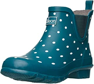 أحذية المطر Jileon بارتفاع الكاحل واسعة الساق - مصممة خصيصًا للسيدات مع قدم واسعة وعجل الساق - أحذية طويلة للكاحل للنساء -...