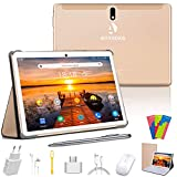 Tablet 10 Pollici 128GB Espandibili 64GB ROM 4GB RAM Tablets 4G LTE Android 9.0 Pie Certificato da Google GMS Tablet Pc con WIFI Offerte Bluetooth OTG GPS con 3 Slot (Dual SIM + 1 SD)