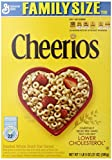 Cheerios, Breakfast Cereal, Gluten Free, Family Size, 21 oz. Cereal Box (Pack of 2)