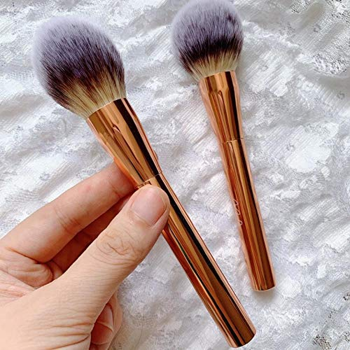 Pinceau De Maquillage Pinceau En Vrac Poudre Couleur Poignée Blush Brush Foundation Brush , Rose Gold Flame Type