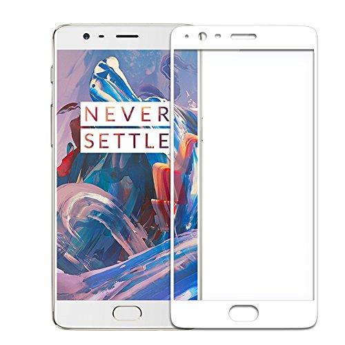 "XMT OnePlus 3,OnePlus 3T5.5"" Protector de pantalla,0.26mm Dureza de Grado 9H Protector de Pantalla de Vidrio Templado Cristal Protector para OnePlus 3,OnePlus 3TSmartphone (Blanca)"