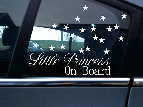 Little Princess on board Autocollant Petits Stickers star et 20.