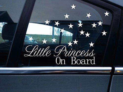 Turnerco Autocollant Little Princess On Board et 20petits autocollant en forme d'étoile.