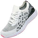 KOUDYEN Zapatillas Deporte Hombres Mujer Gimnasio Running Zapatos para Correr Transpirables Sneakers,XZ581-Whitepink-EU37