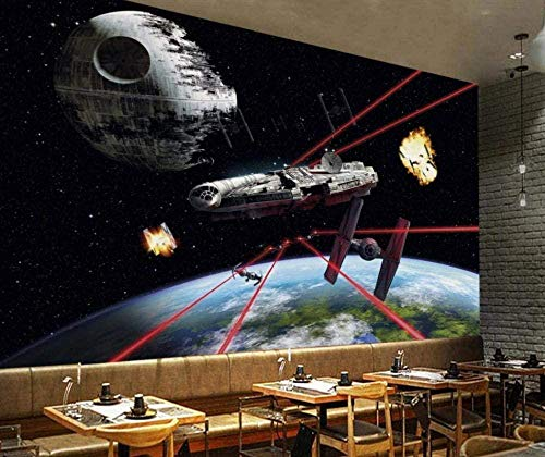 ZZXIAO Fondo de pantalla 3D Universe Galaxy Space Mural Wallpaper Living Room Imágenes de fondo para cocina Decoración Fotomural sala Pared Pintado Papel tapiz no tejido-430cm×300cm