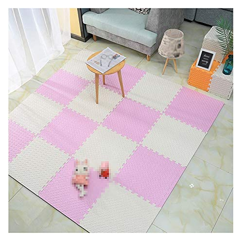 GHHZZQ Tapis Mousse Enfant Protection Environnementale Durable PE Chambre Jardin d'enfants, 4 Coloris (Color : B, Size : 50x50x1.6cm-9pcs)