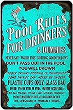 Pływnik, reguły basenu, tabliczka ostrzegawcza do miejsc rozrywkowych, łatwa do zainstalowania tabliczka ostrzegawcza