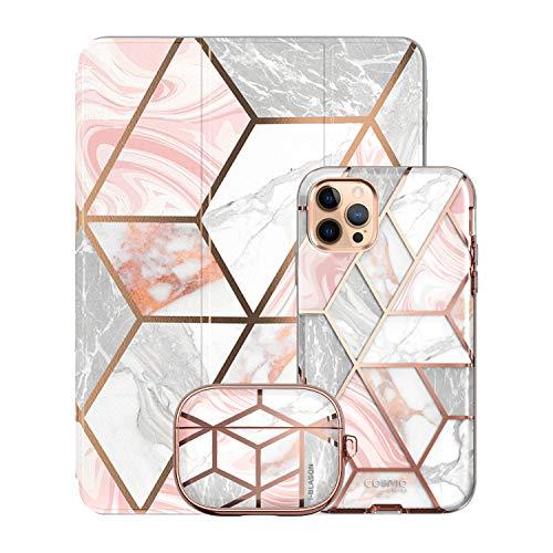 i-Blason Cosmo Pink Trio Bundle - iPhone 12 Pro Max 6.7', iPad 10.2' & AirPods Pro Case