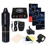 Dragonhawk Tattoo Kit Pen Rotary Tattoo Machine Pen 30pcs Tattoo Needles Power...