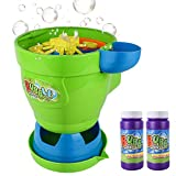 MOZOOSON Bubble Machine with 2 Bottles of Liquid, Outdoor Toys Bubble Maker