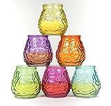 6 Stück Citronella Kerze in bauchigem Glas 9
