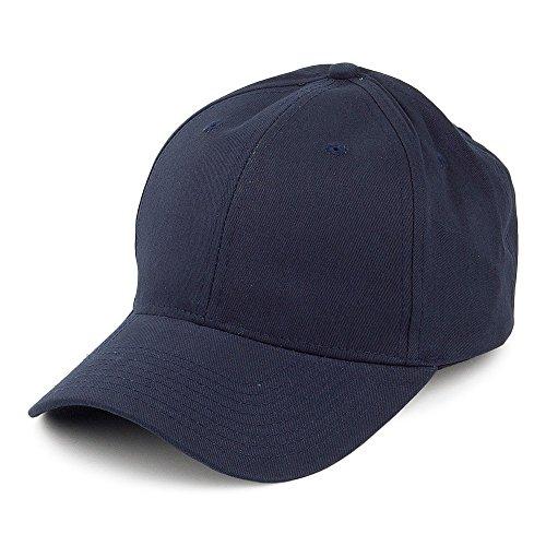 Village Hats Casquette en Coton Brossé Bleu Marine - Ajustable