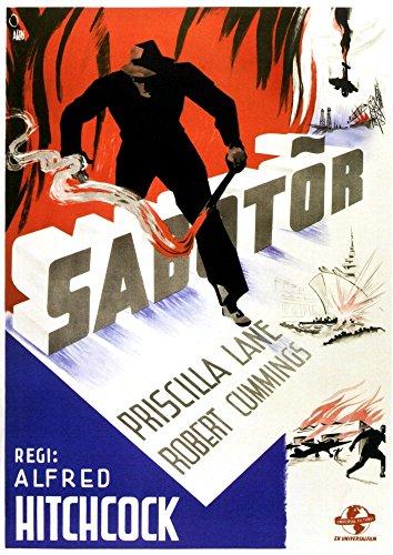 Posterazzi Saboteur (Aka Sabotor) (Swedish Art) 1942. Movie Masterprint Poster Print (11 x 17)