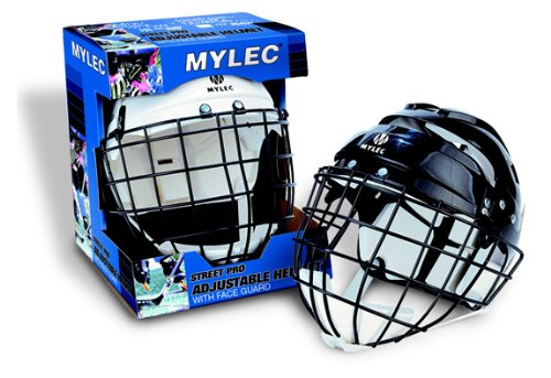 Mylec Sr. Helmet with Wire Face Guard, White