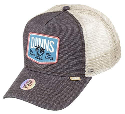 Djinns Trucker Cap Rough Canvas Dark Brown, Size:ONE Size
