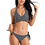 WIN.MAX Bikinis Mujer 2019,Bikinis Mujer 2019 Brasileños,Bikini Push Up con Relleno,Bañadores de Mujer,Playa de Verano Bañador,Bikini Talla Grande,Ideal para Nadar,Vacaciones(Negro, EU40)