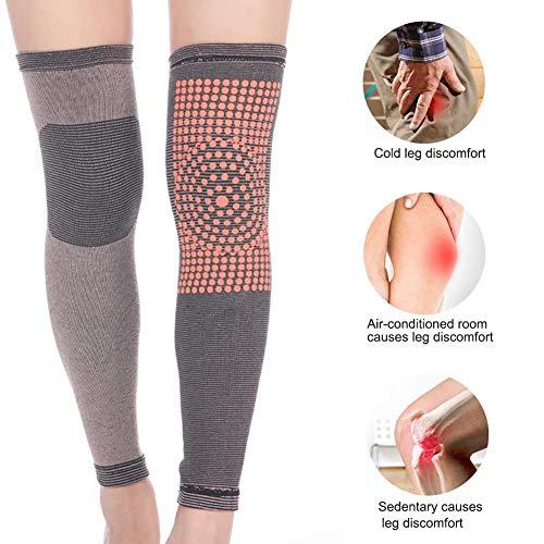 Ecisi 1 Paar Selbsterhitzung Knieorthese Ärmel für Männer Frauen, High Stretch Turmalin Magnetfeldtherapie Knieschoner Unterstützung für Arthrose Schmerzlinderung, Four Seasons Universal