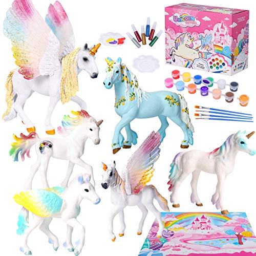 Tacobear Unicornio Figuras Pintar Juegos para Niños Unicornio Figuras para Pintar Unicornio...