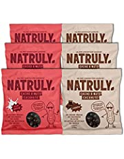 Natruly Cacao&Nuts Cacahuetes con Chocolate sin Azúcar y sin Edulcorantes, Sin Gluten, Chocolate sin Azúcar – Pack Mixto 6x150 gr