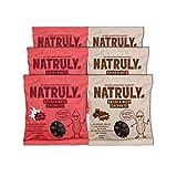 Natruly Cacao & Nuts Schokoerdnüsse ohne Zucker oder Süßstoff, Glutenfrei, mit zuckerfreier Schokolade, Gemischte Packung 6 x 150 g