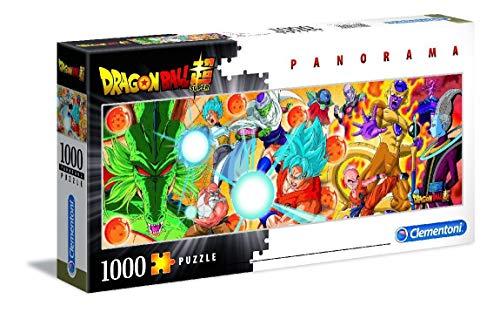 Clementoni 39486 Clementoni-39486-Disney Panorama Collection-Dragon Ball-1000 Teile, Mehrfarben