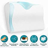BODESY Contour Memory Foam Bed Pillow for Sleeping, Orthopedic...