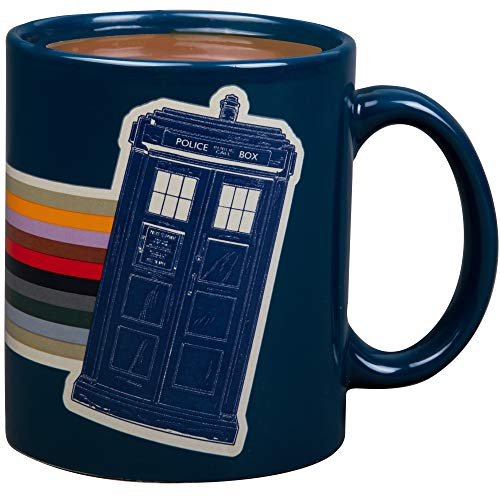 Doctor Who Keramik-Kaffeebecher – 13. Dr. Rainbow und Tardis Design – 325 ml