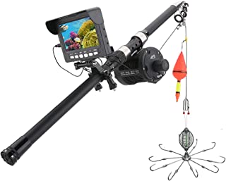 Fish Finders Grabadora DVR de 4.3 Pulgadas Buscador de Peces, Lámpara LED infrarroja de 10W Cámara de Video subacuática de...