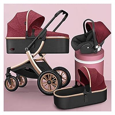 Silla de paseo reversible 2 en 1 3 en 1 cochecito de cochecito de bebé, cochecito de alto paisaje portátil plegable shonen Push Baby Push Baby Travel PRAM para 0-36 meses, puede sentarse reclinarse an