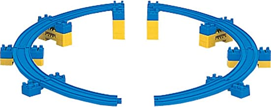 R-18 Sloping Curve Rail (A/B each 4 pieces w/12 mini bridge piers) by Takara Tomy