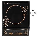 Placa de inducción portátil de 1500 W, placa de inducción con 5 niveles de temperatura, ventilador de 7 aspas (EU 220 V)