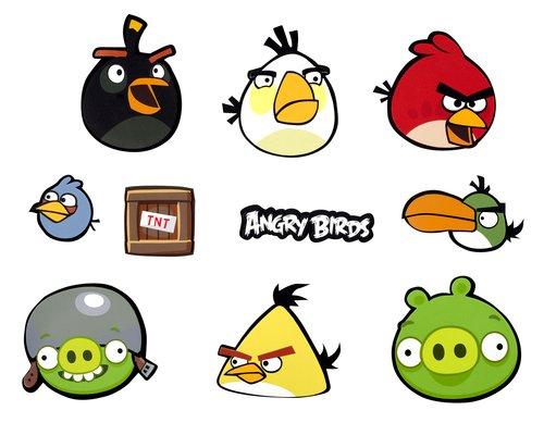Vamos 353604 Deko-Sticker Angry Birds 29,5 x 35 cm