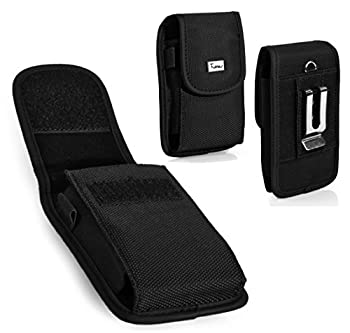 Alcatel OneTouch IDOL 3  5.5   Case TMAN Heavy Duty Vertical Rugged Pouch Carrying Case with Belt Clip Belt Loops Holster for Alcatel OneTouch IDOL 3  5.5    Fits with Thin Protective Case