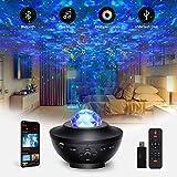 LED Sternenhimmel Projektor Lampe, Tasmor Music Galaxy Projektor mit Fernbedienung, Nebulicht mit Bluetooth Lautsprecher, Sky Lite für Party, Weihnachten, Kinder Erwachsene Zimmer Dekoration