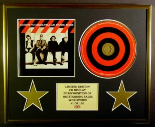 U2/CD Display/Limited Edition/COA/How to DISMANTLE AN Atomic Bomb
