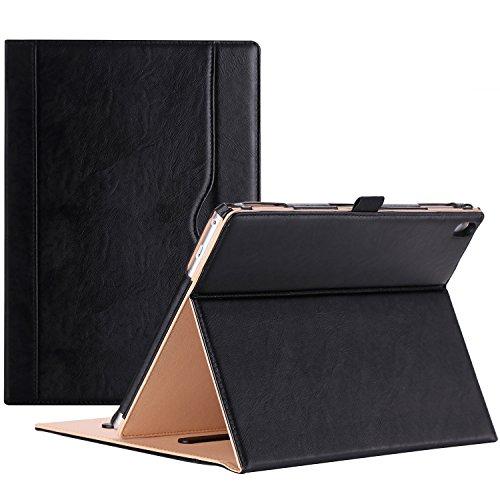 ProHülle Hülle für Lenovo Tab 4 10 Plus (TB-X704F) Hülle - Stand Folio Hülle Cover, mit Mehreren Blickwinkel, Auto Sleep/Wake, Dokumentenkarte Pocket -Schwarz