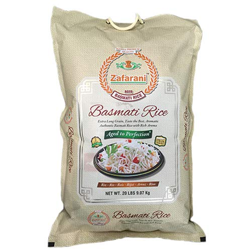 India's Premium Quality Zafarani Aged basmati Rice GMO Free - 10 lbs
