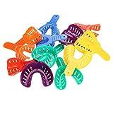 Bandejas dentales, 12pcs/Set Genérico Dental Plastic Teeth Brace Soporte de dientes de plástico Soporte de dientes Herramientas de soporte de dientes para soporte de dientes