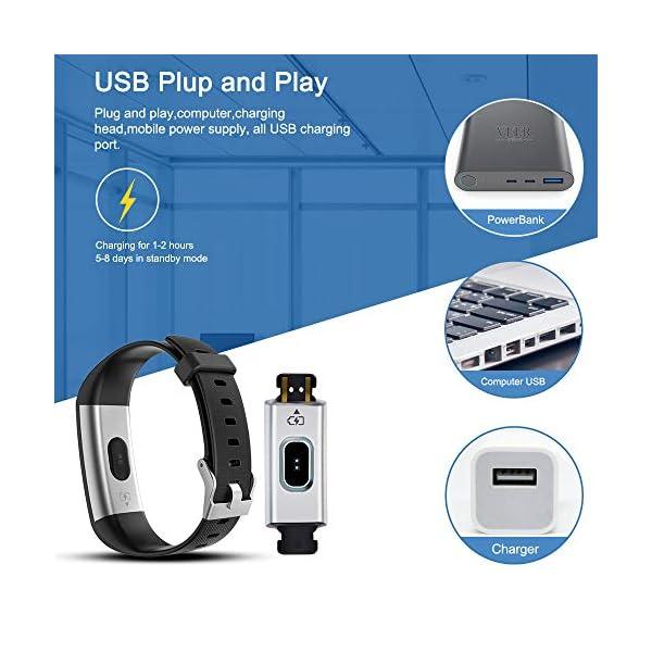 Pulsera de Actividad, Inteligente Reloj Deportivo, IP68 para Hombre Mujer con GPS Monitor de Sueño Podómetro Contador… 7