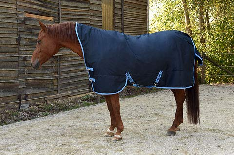 Covalliero Kerbl Outdoordecke RugBe Protect Highneck blau/hellblau Pferdedecke Halsansatz (135)