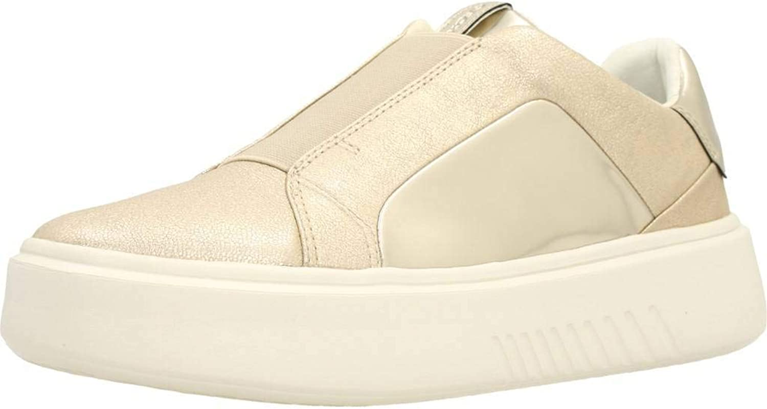 Geox Moccasin Low for Women Platinum-colord Article D828DB 0KYBN C0586 D B NHENBUS New Spring Summer Collection 2018