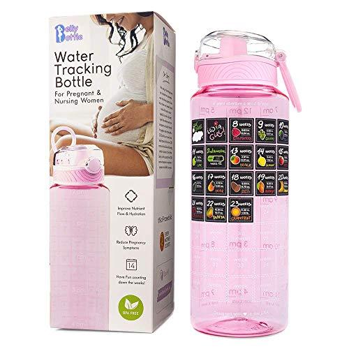 BELLYBOTTLE Pregnancy Water Bottle Intake Tracker with...